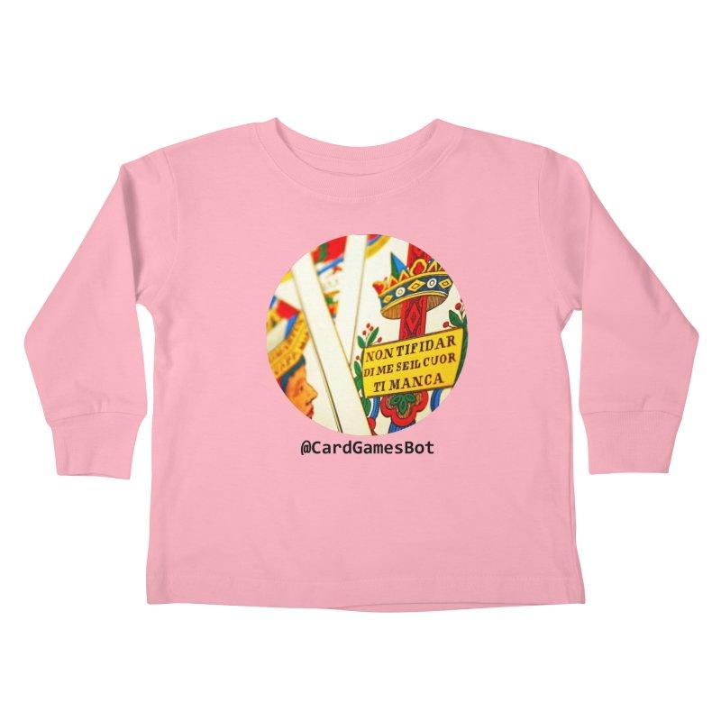 CardGamesBot Kids Toddler Longsleeve T-Shirt by OTInetwork
