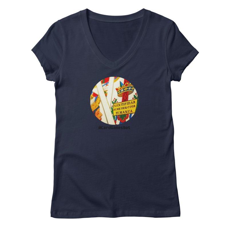CardGamesBot Women's Regular V-Neck by OTInetwork