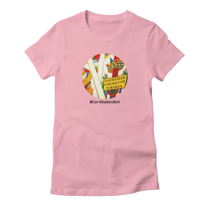 CardGamesBot Women's Fitted T-Shirt by OTInetwork