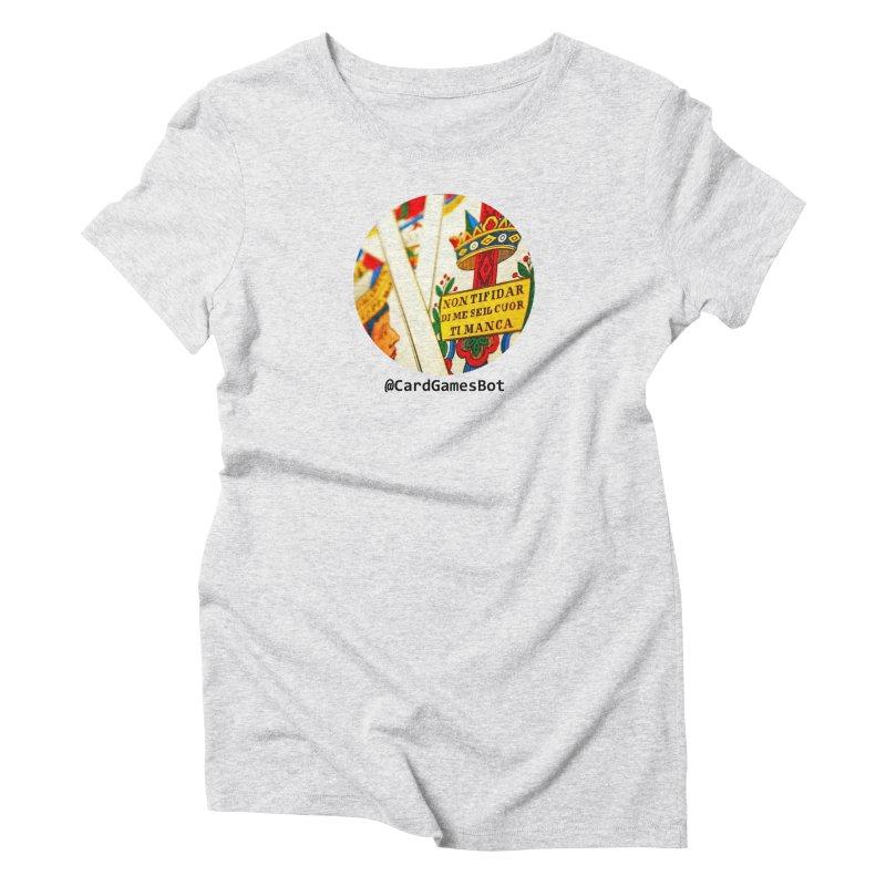 CardGamesBot Women's Triblend T-Shirt by OTInetwork