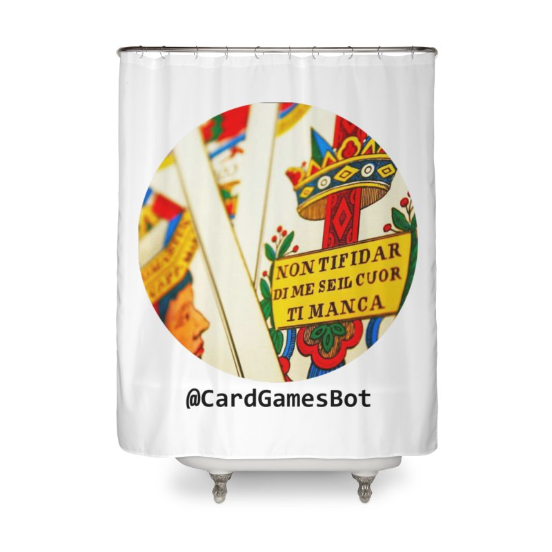 CardGamesBot Home Shower Curtain by OTInetwork