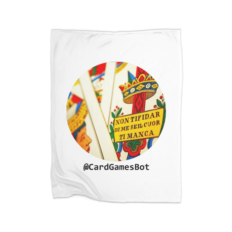 CardGamesBot Home Fleece Blanket Blanket by OTInetwork
