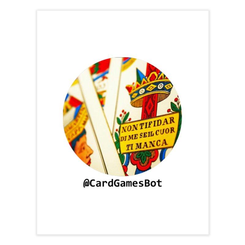 CardGamesBot Home Fine Art Print by OTInetwork