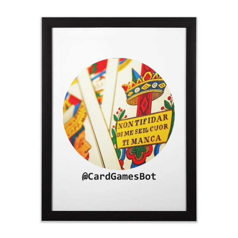 CardGamesBot Home Framed Fine Art Print by OTInetwork