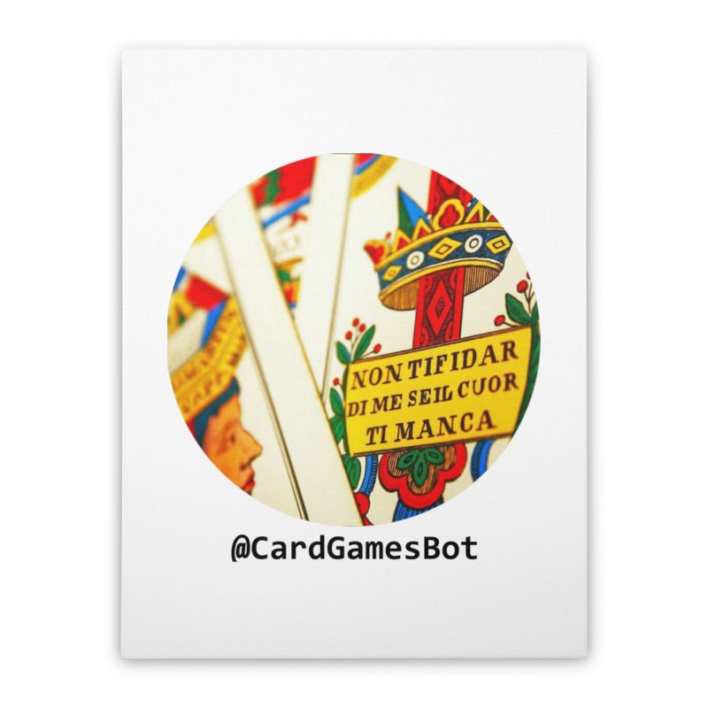 CardGamesBot Home Stretched Canvas by OTInetwork