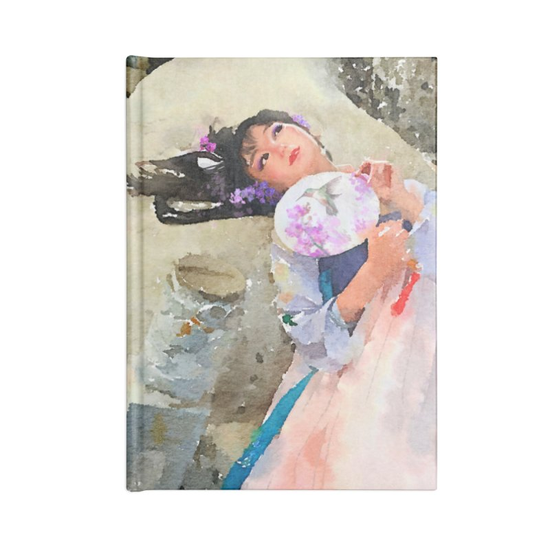 Hui Zi Dreams of being a princess one day Accessories Lined Journal Notebook by Draw Juice Custom Art Prints