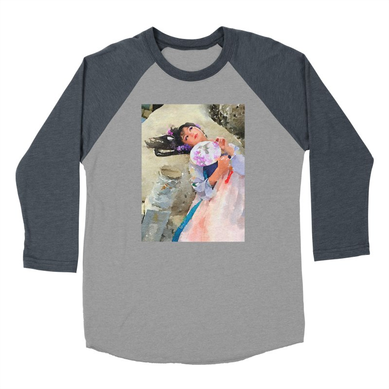Hui Zi Dreams of being a princess one day Women's Baseball Triblend Longsleeve T-Shirt by Draw Juice Custom Art Prints