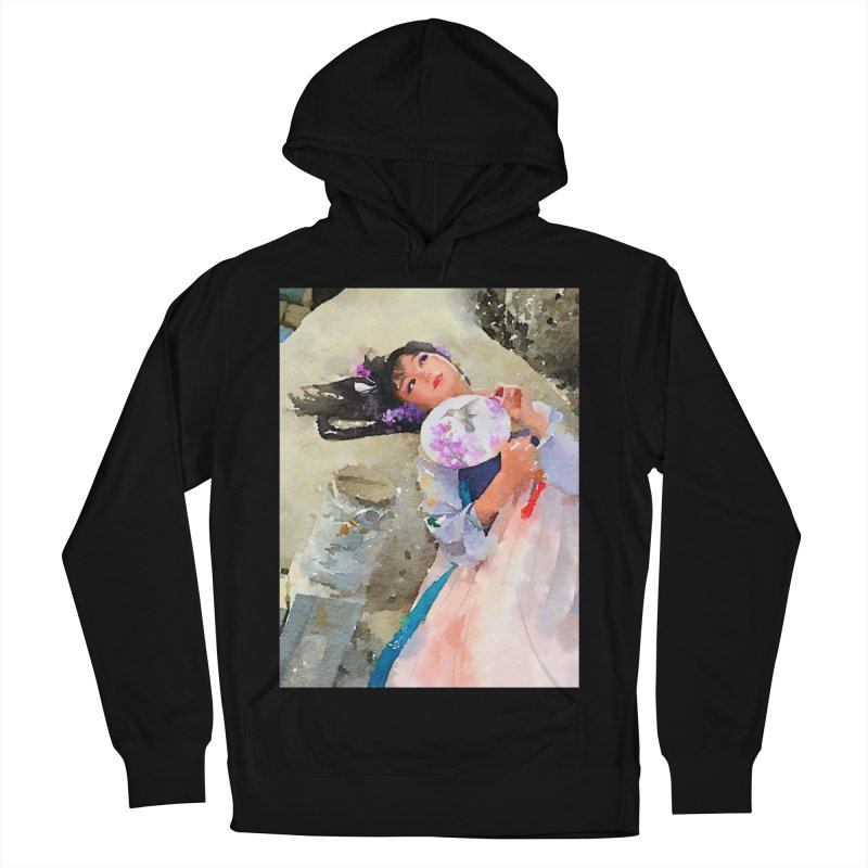 Hui Zi Dreams of being a princess one day Women's French Terry Pullover Hoody by Draw Juice Custom Art Prints