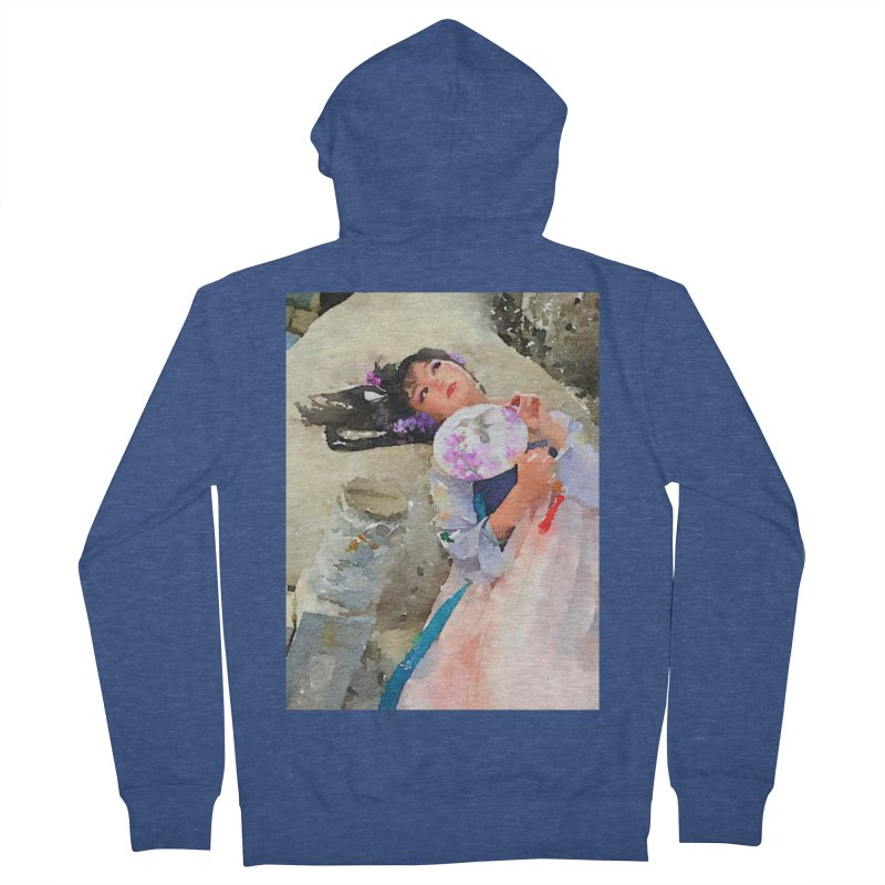 Hui Zi Dreams of being a princess one day Women's French Terry Zip-Up Hoody by Draw Juice Custom Art Prints