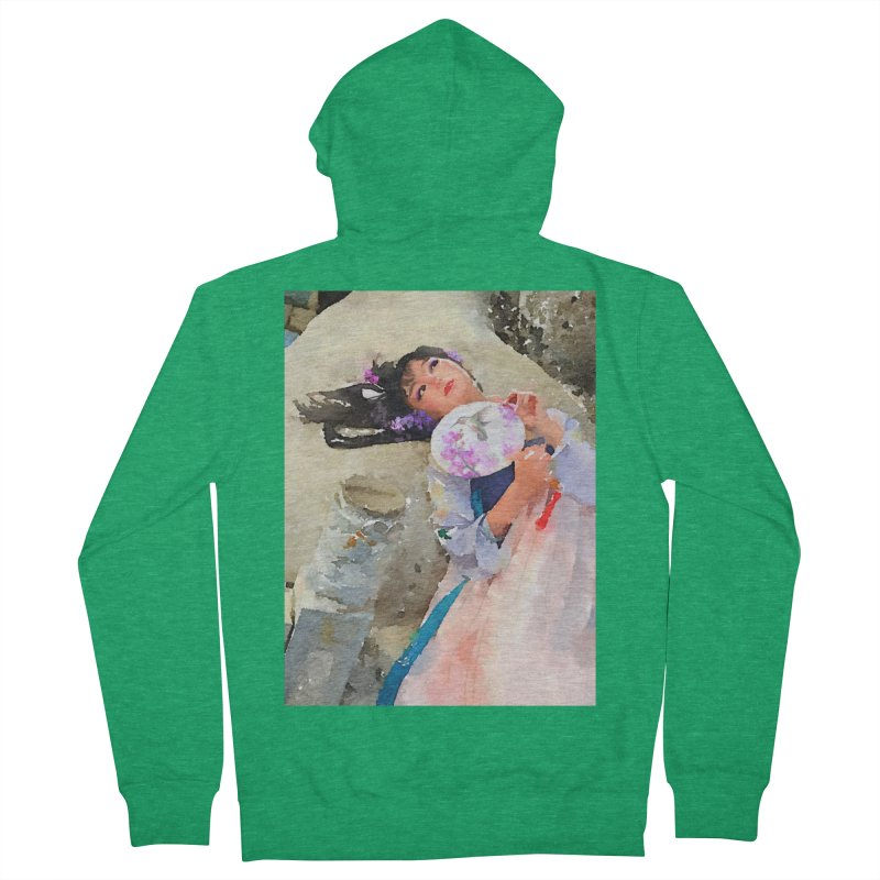 Hui Zi Dreams of being a princess one day Men's Zip-Up Hoody by Draw Juice Custom Art Prints