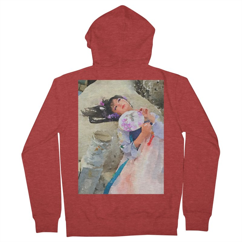 Hui Zi Dreams of being a princess one day Men's French Terry Zip-Up Hoody by Draw Juice Custom Art Prints