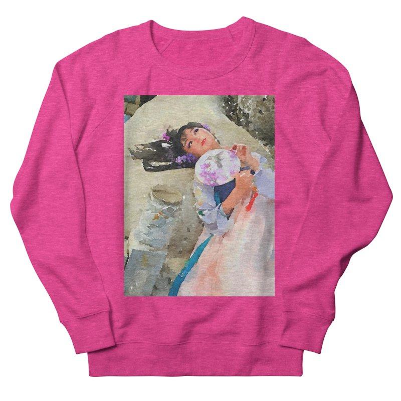 Hui Zi Dreams of being a princess one day Women's French Terry Sweatshirt by Draw Juice Custom Art Prints