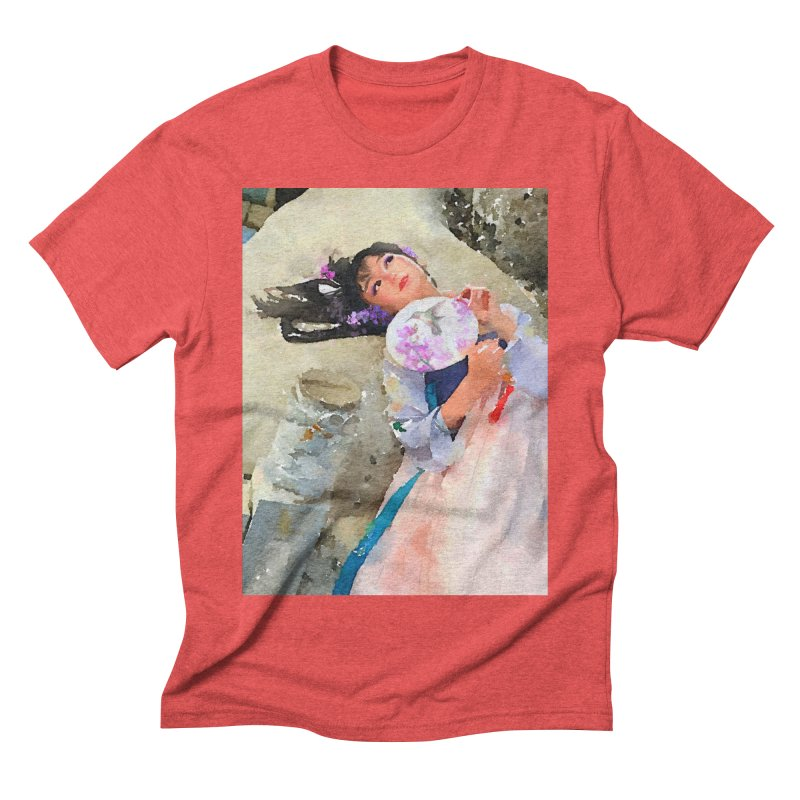 Hui Zi Dreams of being a princess one day Men's Triblend T-Shirt by Draw Juice Custom Art Prints
