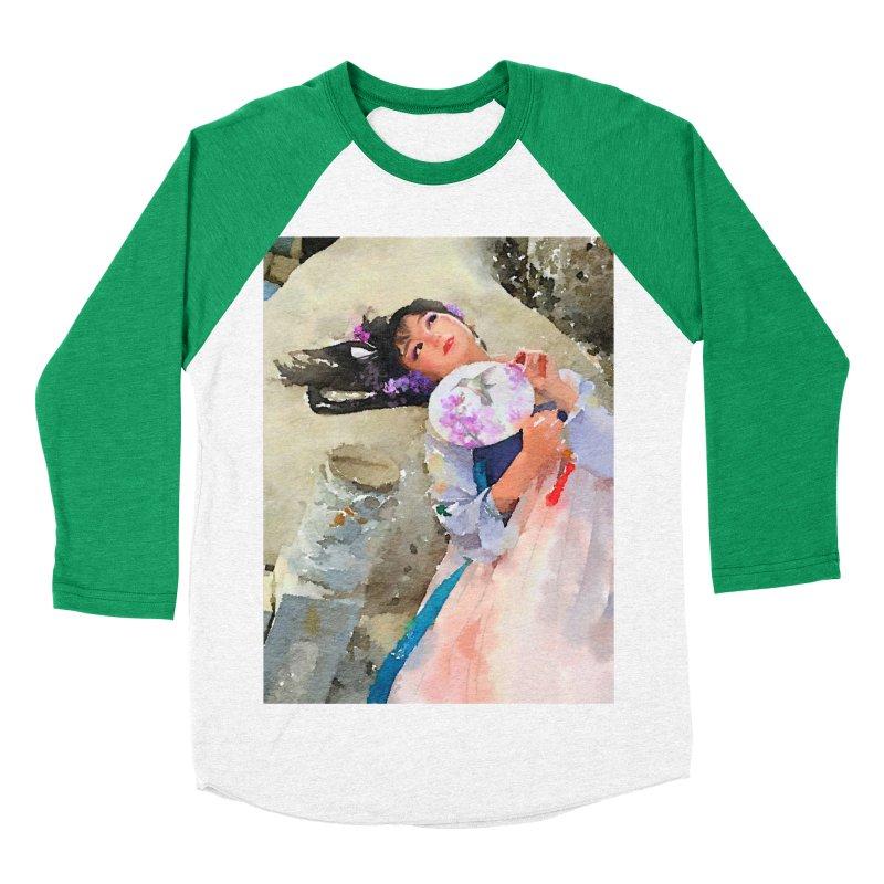 Hui Zi Dreams of being a princess one day Women's Baseball Triblend Longsleeve T-Shirt by Draw Juice Custom Art Prints