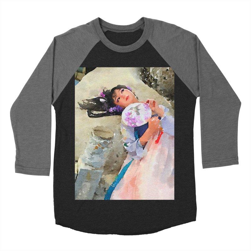 Hui Zi Dreams of being a princess one day Men's Baseball Triblend Longsleeve T-Shirt by Draw Juice Custom Art Prints