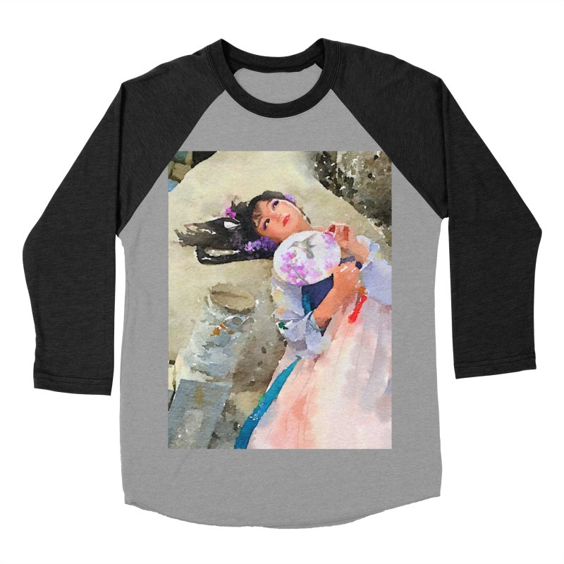 Hui Zi Dreams of being a princess one day Men's Baseball Triblend Longsleeve T-Shirt by Draw Juice Custom Art Prints