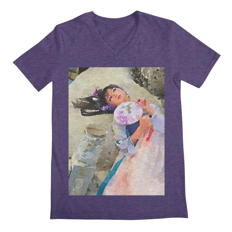 Hui Zi Dreams of being a princess one day Men's Regular V-Neck by Draw Juice Custom Art Prints