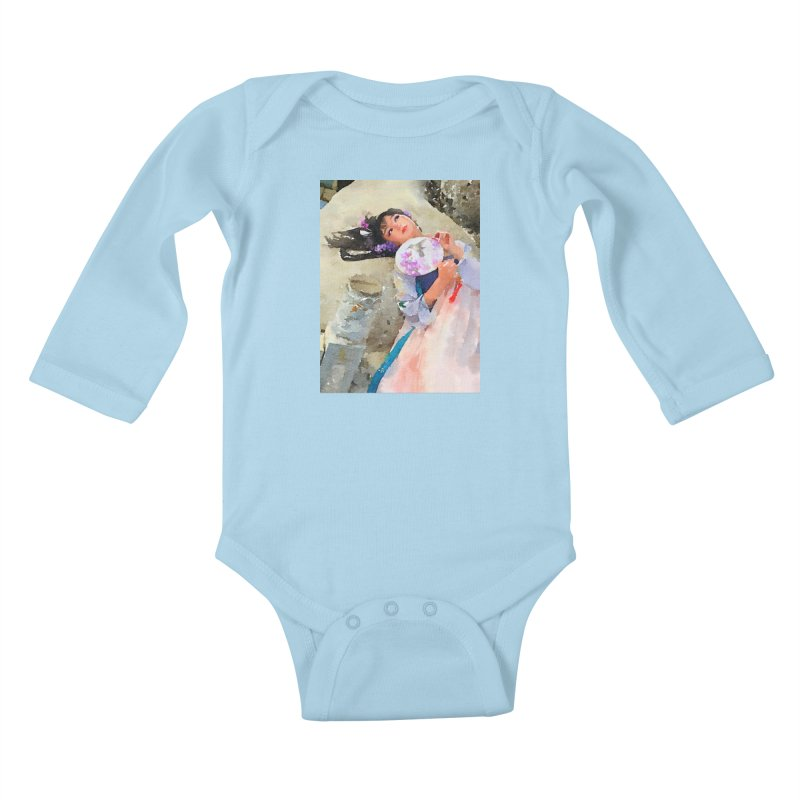 Hui Zi Dreams of being a princess one day Kids Baby Longsleeve Bodysuit by Draw Juice Custom Art Prints