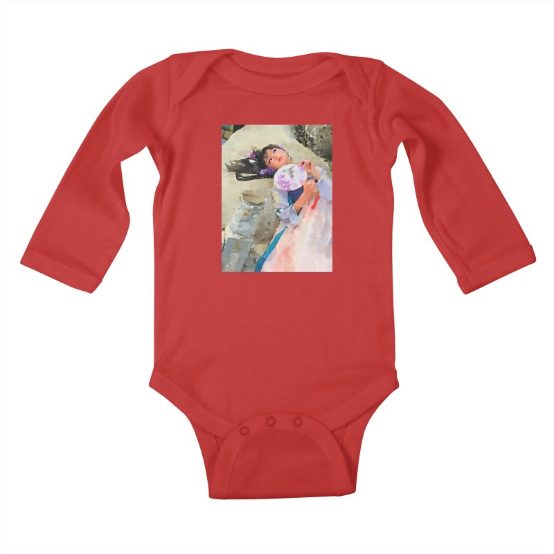 Hui Zi Dreams of being a princess one day Kids Baby Longsleeve Bodysuit by Draw Juice Custom Art Prints