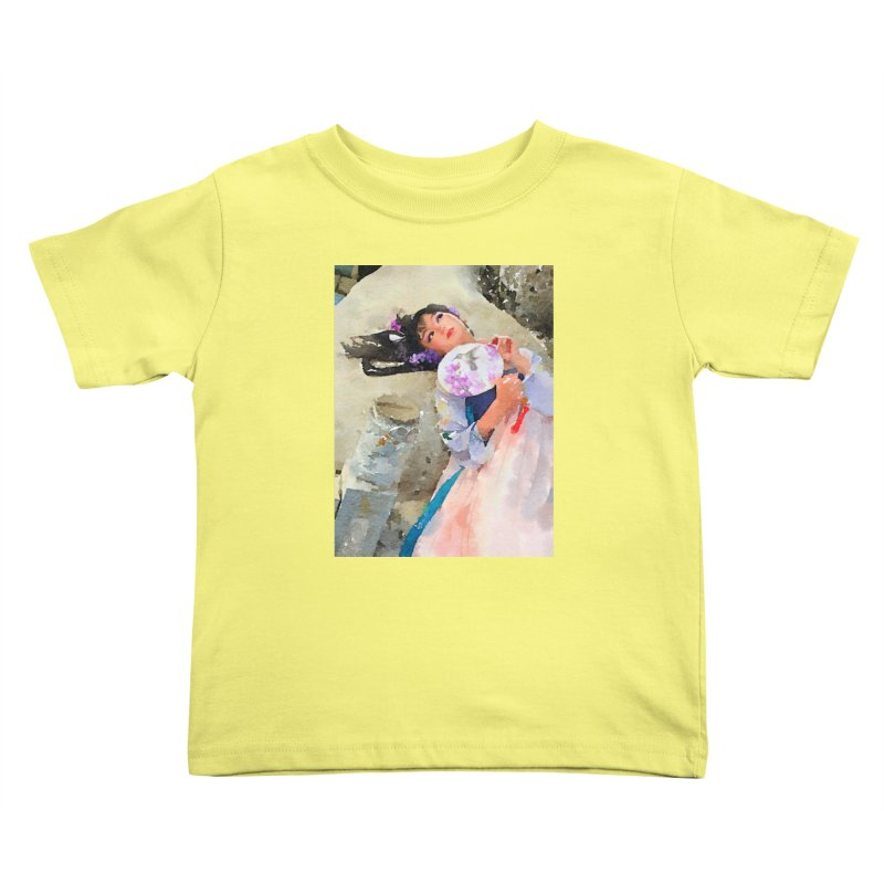 Hui Zi Dreams of being a princess one day Kids Toddler T-Shirt by Draw Juice Custom Art Prints