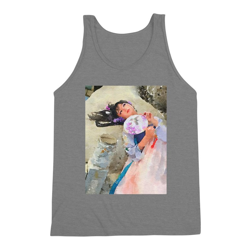 Hui Zi Dreams of being a princess one day Men's Triblend Tank by Draw Juice Custom Art Prints