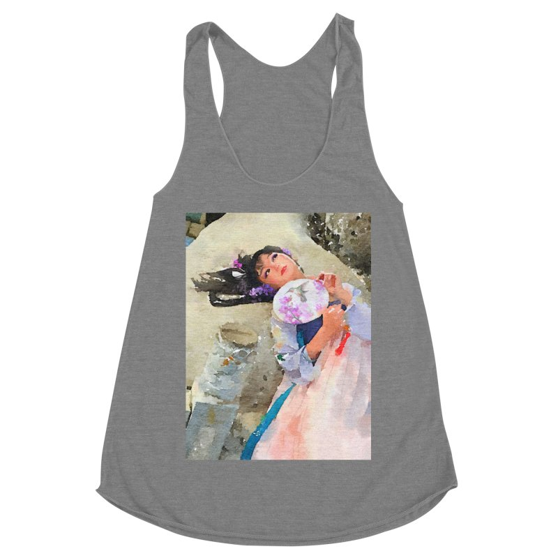 Hui Zi Dreams of being a princess one day Women's Racerback Triblend Tank by Draw Juice Custom Art Prints