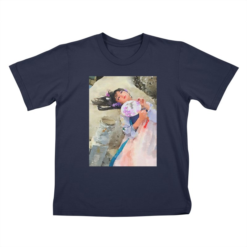 Hui Zi Dreams of being a princess one day Kids T-Shirt by Draw Juice Custom Art Prints