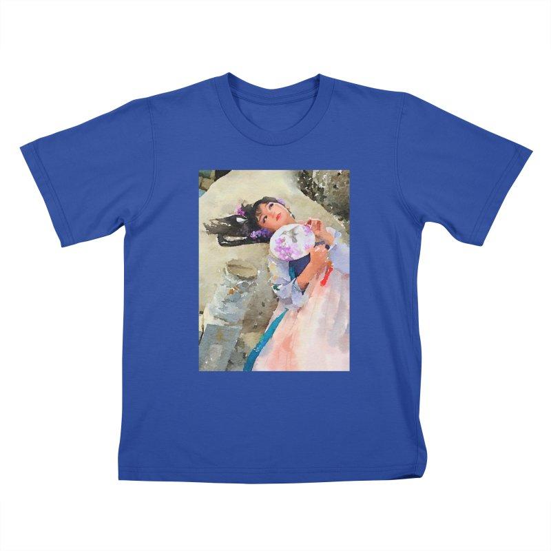 Hui Zi Dreams of being a princess one day Kids T-Shirt by Draw Juice Custom Art Prints