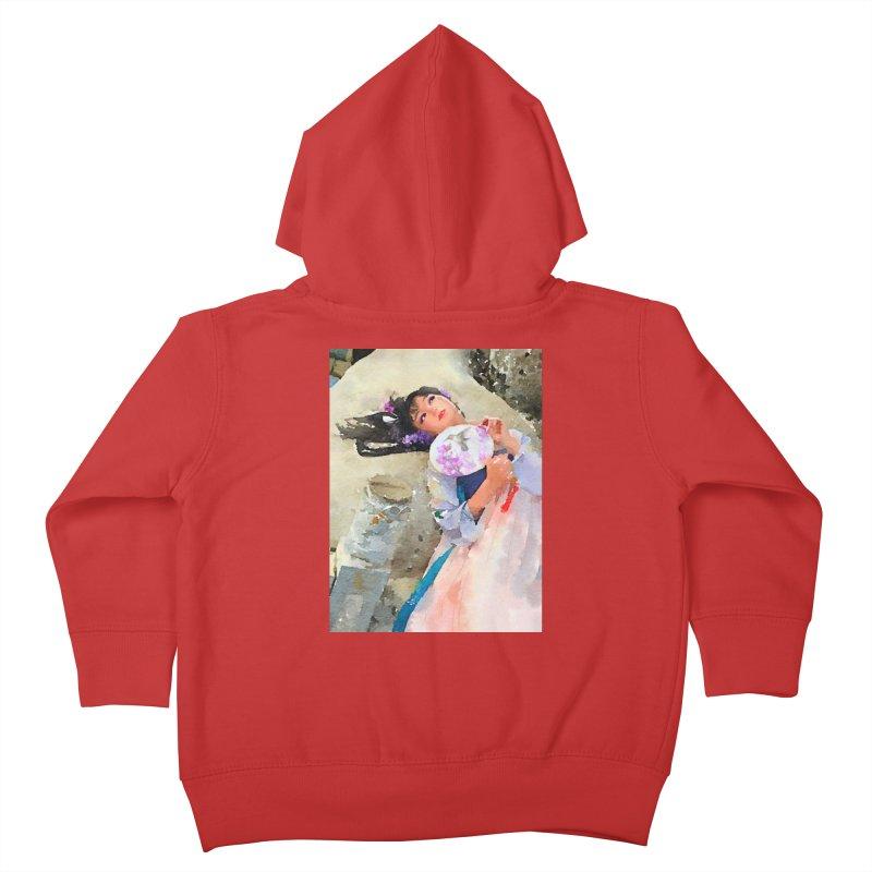 Hui Zi Dreams of being a princess one day Kids Toddler Zip-Up Hoody by Draw Juice Custom Art Prints