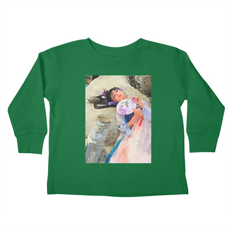 Hui Zi Dreams of being a princess one day Kids Toddler Longsleeve T-Shirt by Draw Juice Custom Art Prints