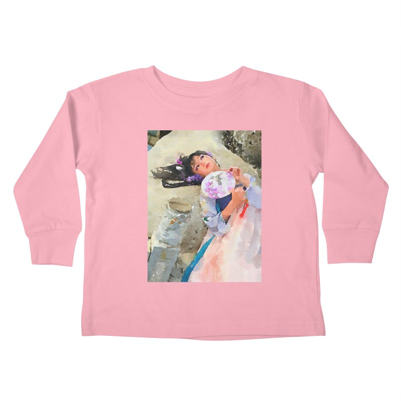 Hui Zi Dreams of being a princess one day Kids Toddler Longsleeve T-Shirt by Draw Juice Custom Art Prints