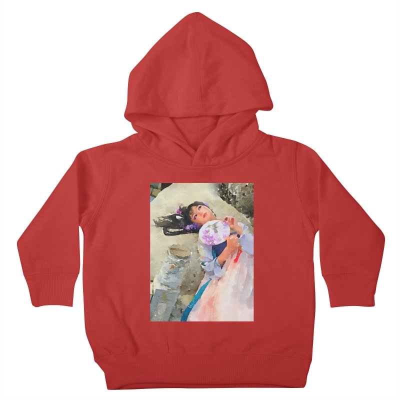 Hui Zi Dreams of being a princess one day Kids Toddler Pullover Hoody by Draw Juice Custom Art Prints