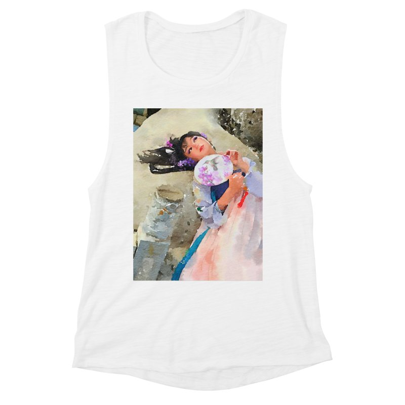 Hui Zi Dreams of being a princess one day Women's Muscle Tank by Draw Juice Custom Art Prints