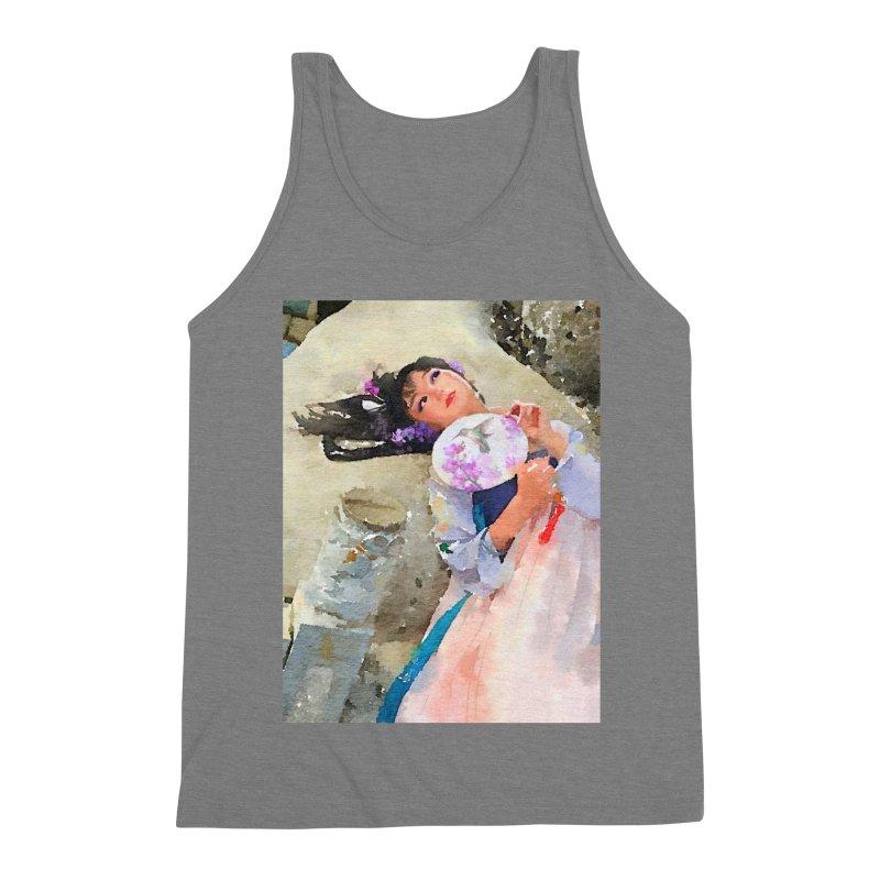 Hui Zi Dreams of being a princess one day Men's Triblend Tank by Draw Juice Custom Art Prints