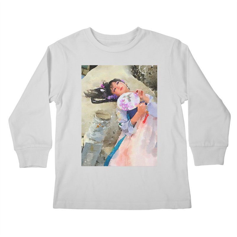 Hui Zi Dreams of being a princess one day Kids Longsleeve T-Shirt by Draw Juice Custom Art Prints