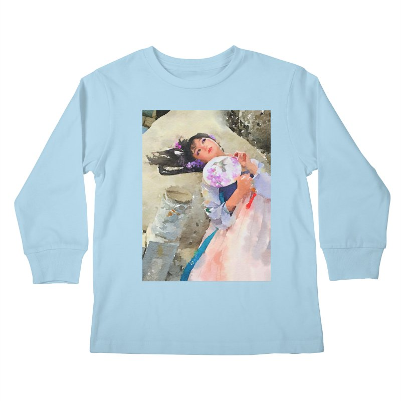 Hui Zi Dreams of being a princess one day Kids Longsleeve T-Shirt by Draw Juice Custom Art Prints