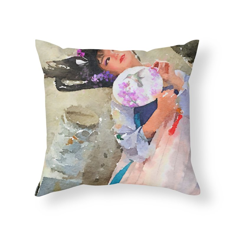 Hui Zi Dreams of being a princess one day Home Throw Pillow by Draw Juice Custom Art Prints