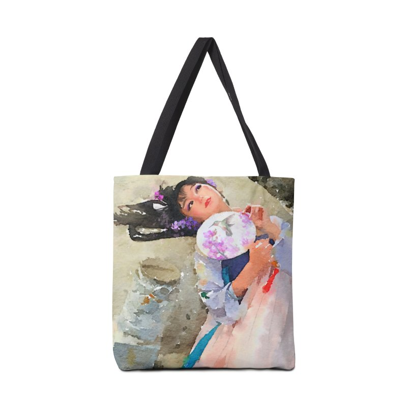 Hui Zi Dreams of being a princess one day Accessories Bag by Draw Juice Custom Art Prints