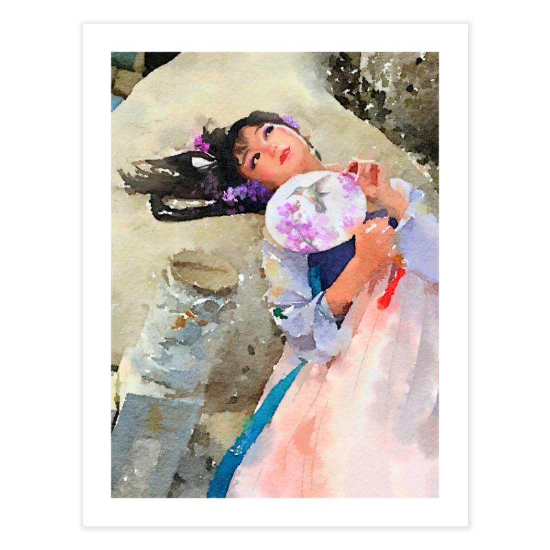 Hui Zi Dreams of being a princess one day Home Fine Art Print by Draw Juice Custom Art Prints