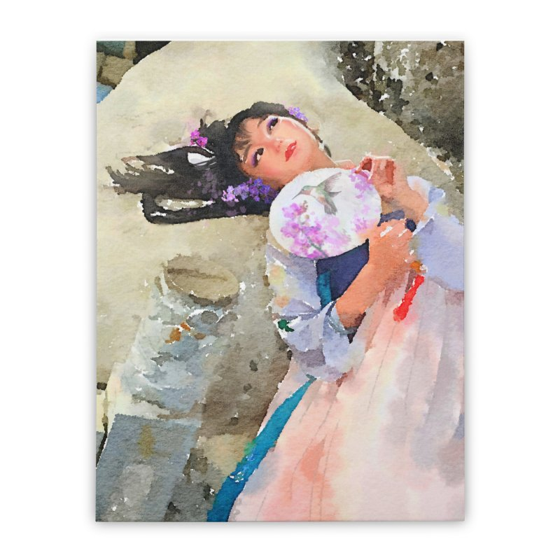 Hui Zi Dreams of being a princess one day Home Stretched Canvas by Draw Juice Custom Art Prints