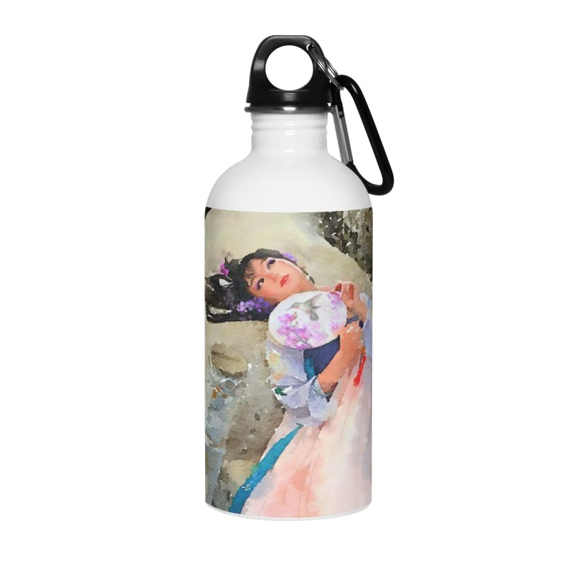 Hui Zi Dreams of being a princess one day Accessories Water Bottle by Draw Juice Custom Art Prints