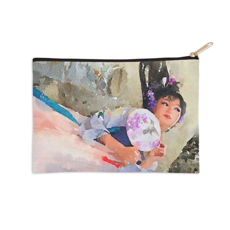 Hui Zi Dreams of being a princess one day Accessories Zip Pouch by Draw Juice Custom Art Prints