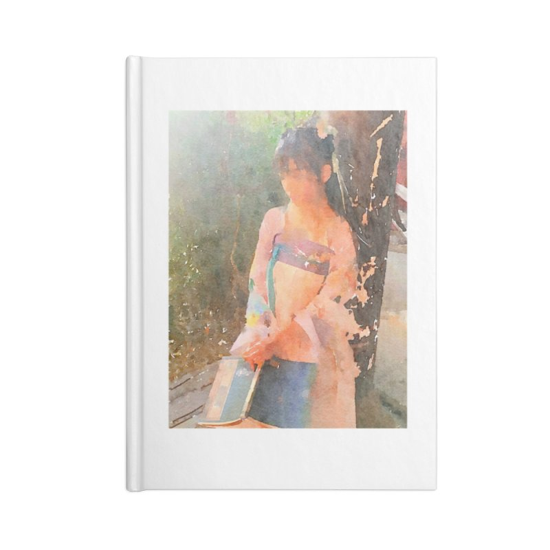 A beautiful poem reminds Hui Zi of the princess she longs to be Accessories Lined Journal Notebook by Draw Juice Custom Art Prints