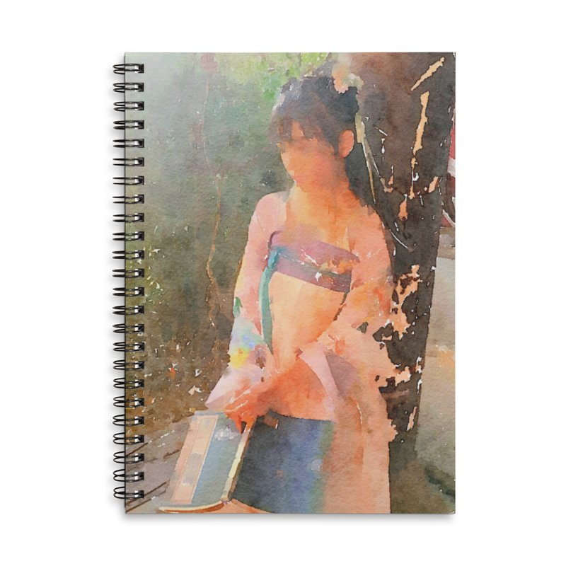 A beautiful poem reminds Hui Zi of the princess she longs to be Accessories Lined Spiral Notebook by Draw Juice Custom Art Prints