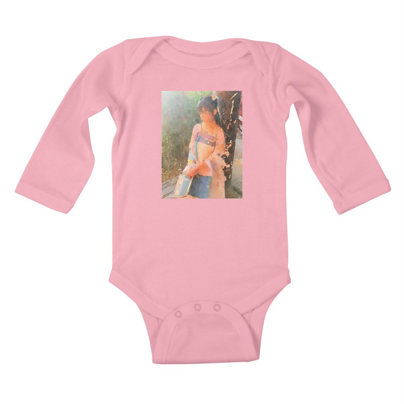 A beautiful poem reminds Hui Zi of the princess she longs to be Kids Baby Longsleeve Bodysuit by Draw Juice Custom Art Prints