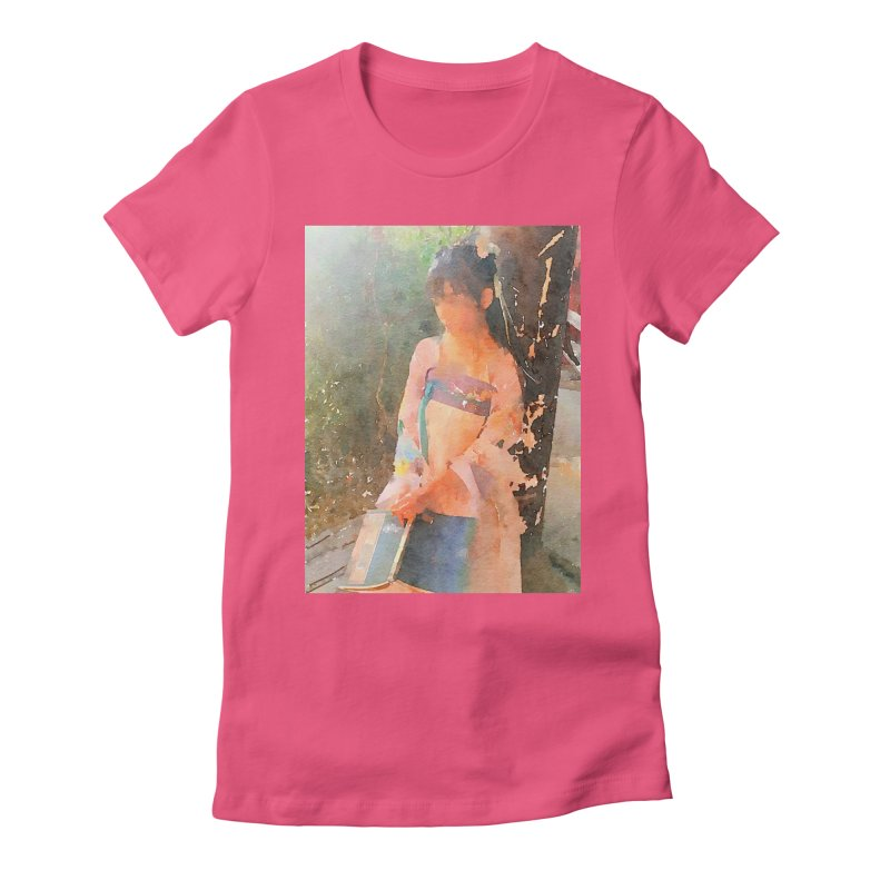 A beautiful poem reminds Hui Zi of the princess she longs to be Women's Fitted T-Shirt by Draw Juice Custom Art Prints