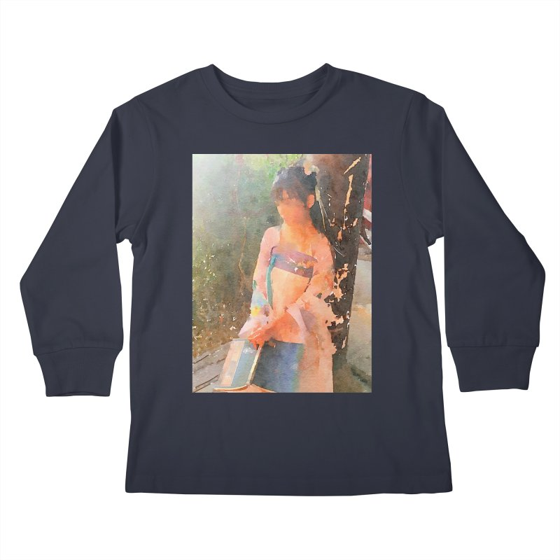 A beautiful poem reminds Hui Zi of the princess she longs to be Kids Longsleeve T-Shirt by Draw Juice Custom Art Prints