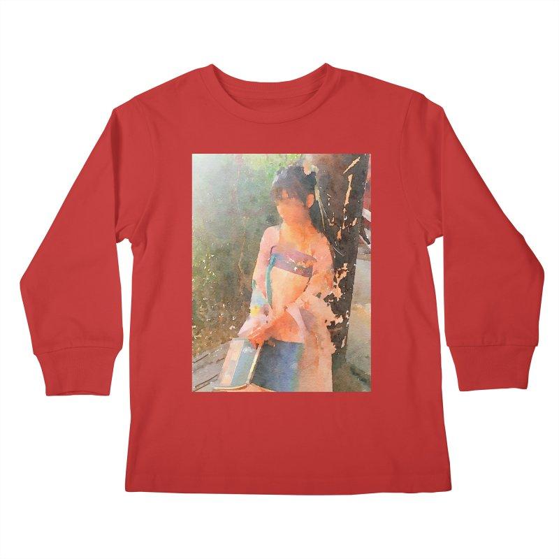 A beautiful poem reminds Hui Zi of the princess she longs to be Kids Longsleeve T-Shirt by Draw Juice Custom Art Prints