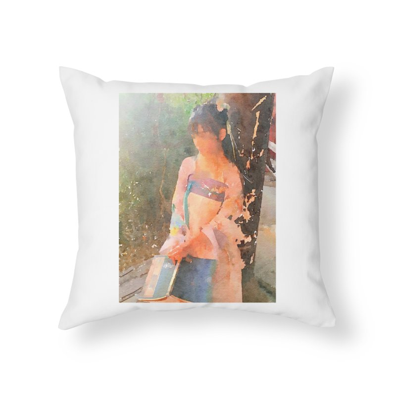 A beautiful poem reminds Hui Zi of the princess she longs to be Home Throw Pillow by Draw Juice Custom Art Prints