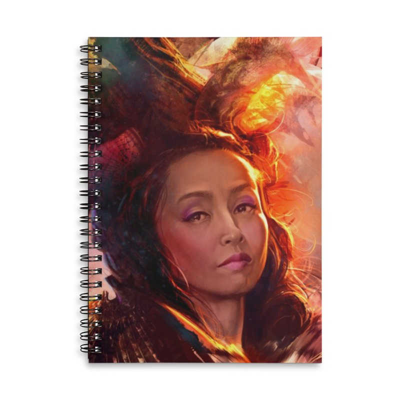 Nevermore Accessories Lined Spiral Notebook by Draw Juice Custom Art Prints